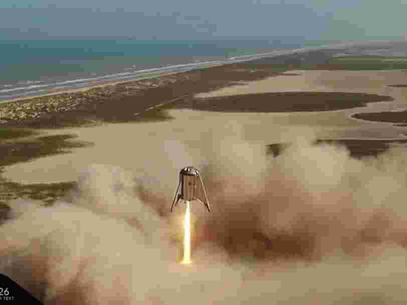 SpaceX réussit le test de sa fusée Starhopper, regardez la vidéo du vol d'essai de 57 secondes