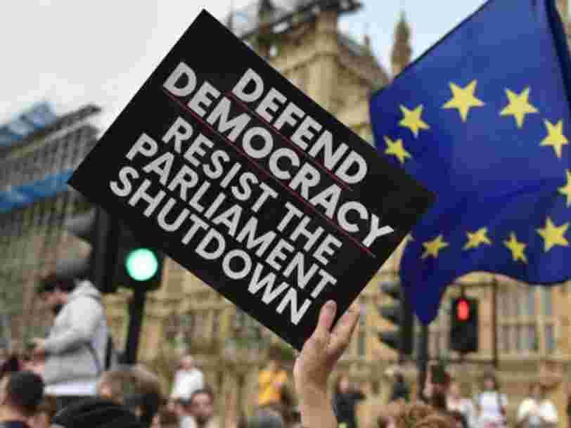 Plus d'un million de personnes ont signé une pétition contre le projet de Boris Johnson de suspendre le Parlement