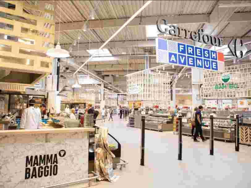 Carrefour teste à Dijon 'Next', son nouveau concept d'hypermarché avec un grand espace bio