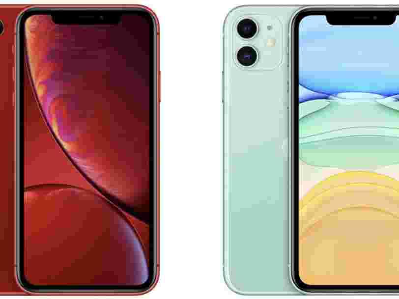 Les 10 différences qui existent entre l'iPhone 11 à 800 euros et l'iPhone XR à 700 euros