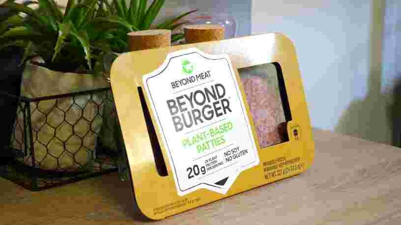 Les steaks sans viande Beyond Meat désormais vendus dans les supermarchés Géant, Casino, Monoprix et Franprix
