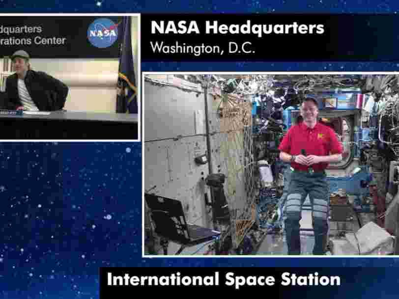 Brad Pitt a parlé de la vie dans l'espace avec un astronaute de la NASA en mission sur l'ISS