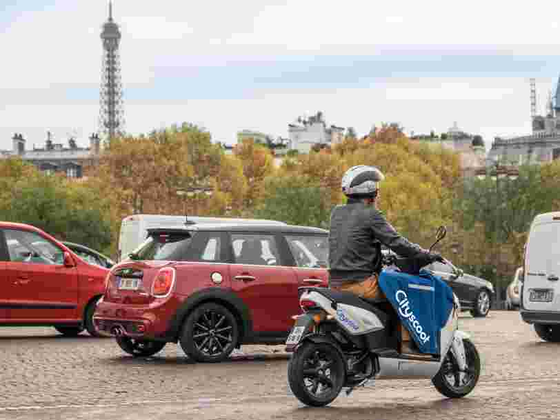Cityscoot lève 40M€ auprès de la RATP au moment où le scooter en libre-service arrive à Nice — la Suisse et l'Italie seront les prochains