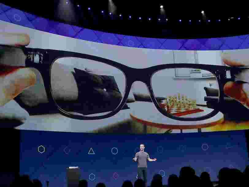 Facebook et Luxottica travailleraient ensemble sur des lunettes intelligentes