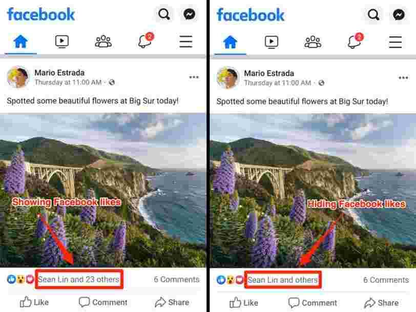 Facebook fait comme Instagram et commence à cacher les likes des utilisateurs