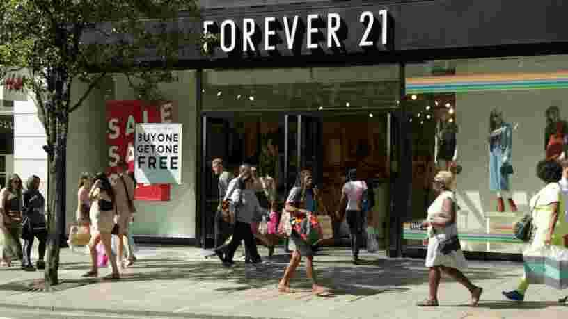 L'enseigne américaine Forever 21 se déclare en faillite