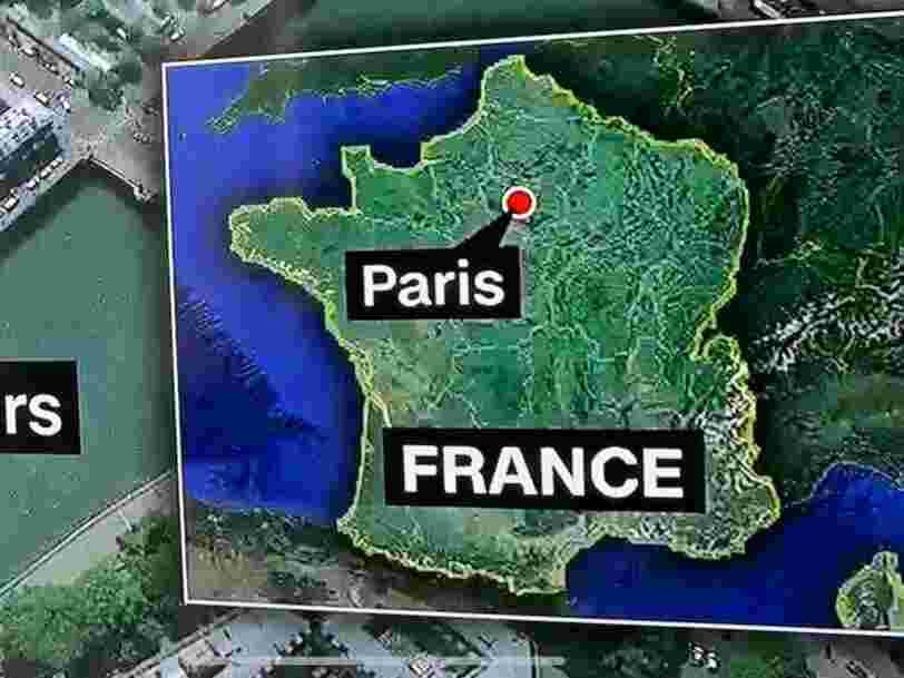 CNN diffuse une carte de France sans l'Alsace pour parler de l'attaque à la Préfecture de police