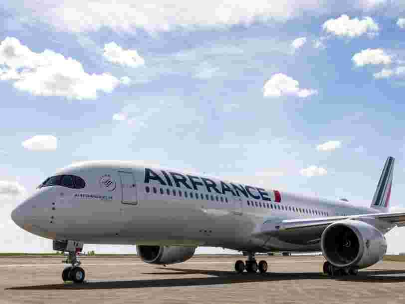 Air France fait voler son premier Airbus A350, voici à quoi il ressemble à l'intérieur