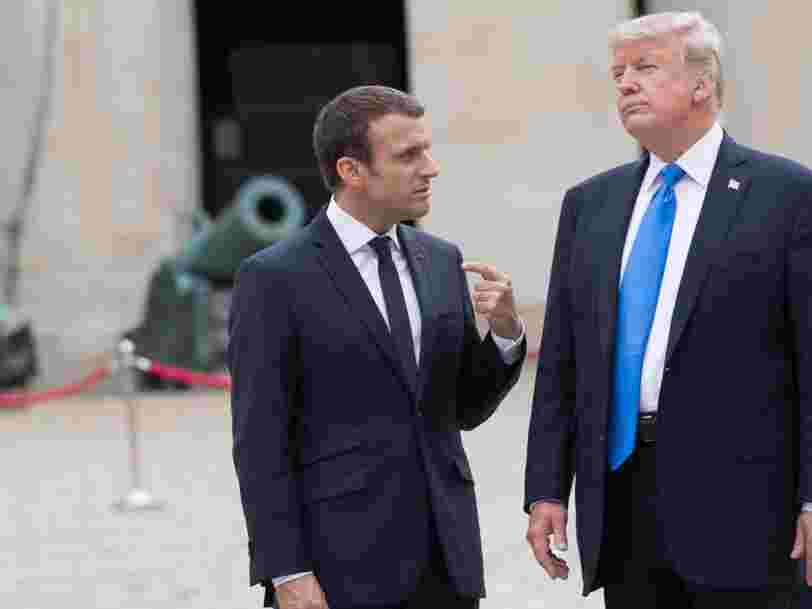 Donald Trump a-t-il comparé Emmanuel Macron à Napoléon ? Son tweet a en tout cas bien faire rire les internautes