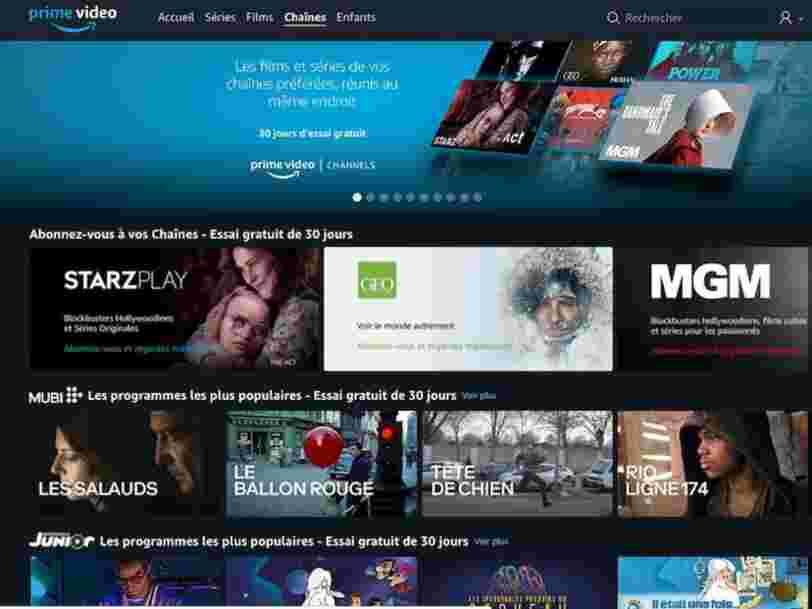 Amazon Channels est disponible en France, voici les chaînes auxquelles vous pouvez vous abonner