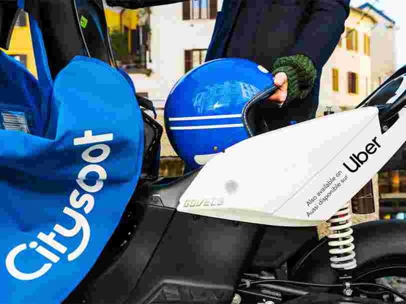 Uber va intégrer les scooters en libre-service de Cityscoot directement dans son appli