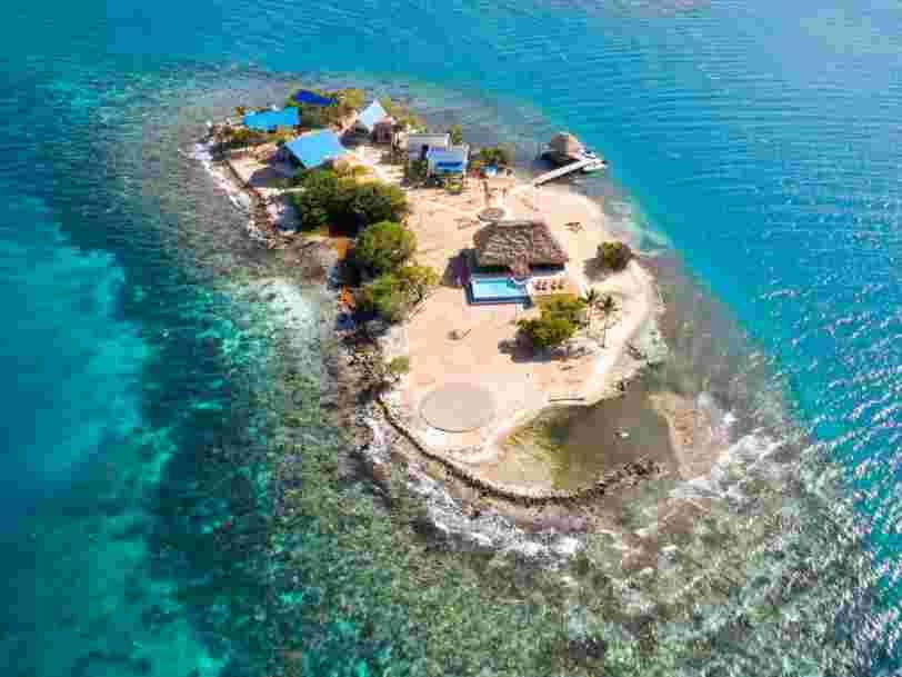 On vous fait visiter cette île au large du Belize que vous pouvez louer pour votre prochain voyage