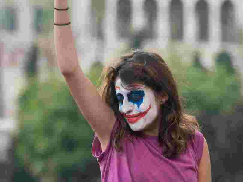 Le visage du Joker est devenu un symbole pour les manifestants au Liban