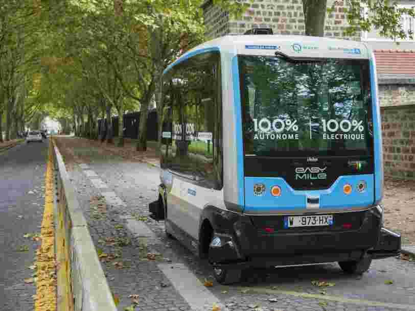 Des robots taxis autonomes de la RATP circuleront à Paris en 2020