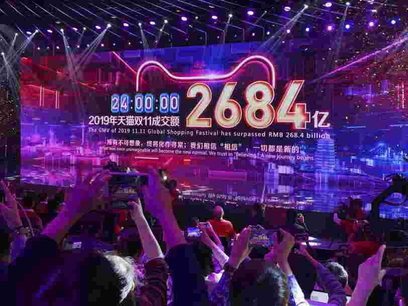Alibaba atteint un record à l'occasion de la journée promo des célibataires