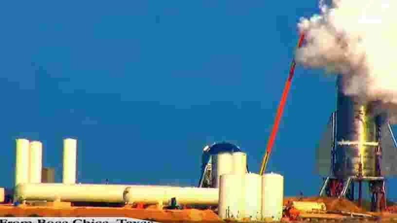 Une vidéo montre un prototype de la fusée Starship de SpaceX en partie exploser pendant des tests