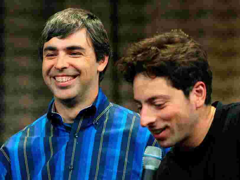 Les co-fondateurs de Google Larry Page et Sergey Brin démissionnent de leur poste de direction, mais gardent le contrôle de l'entreprise