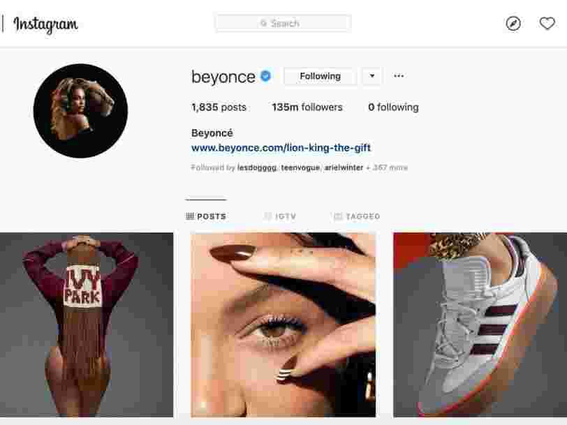 Beyoncé dévoile sur Instagram les premières images et la date de lancement de sa collaboration avec Adidas