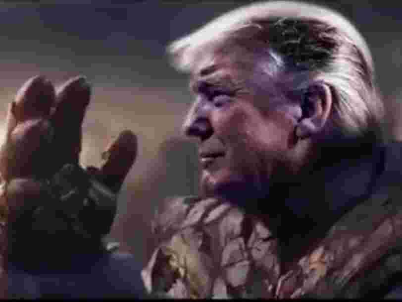 L'équipe de Donald Trump publie une vidéo du président avec le visage du super-vilain Thanos d'Avengers