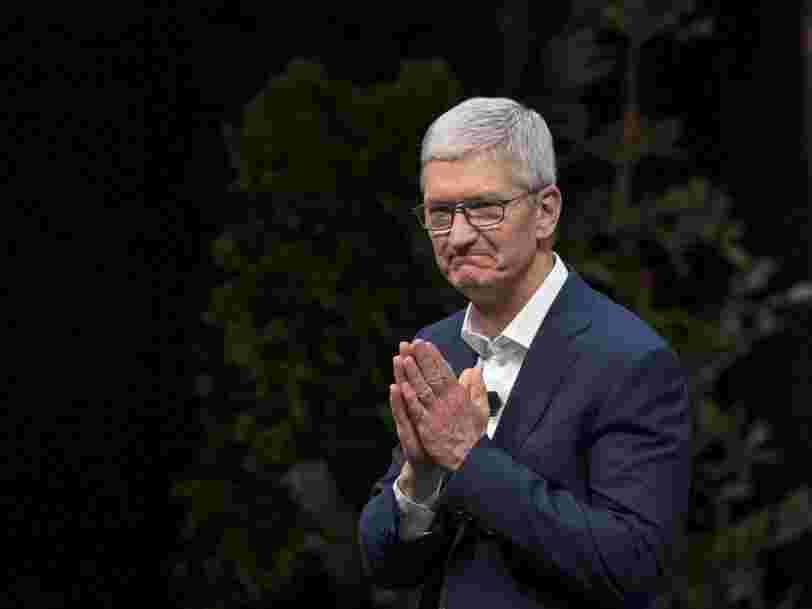 Apple vient d'être détrônée de sa place de société la mieux valorisée en Bourse