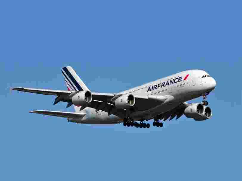 Les lignes qu'Air France pourrait décider de supprimer ou d'alléger pour réduire ses pertes