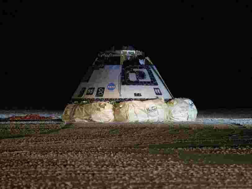 La capsule de Boeing censée à terme transporter des astronautes dans l'espace est de retour sur Terre après un vol test au bilan mitigé