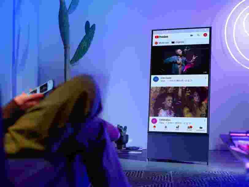 Samsung vient de dévoiler Sero, une nouvelle télé rotative qui ressemble à un smartphone géant