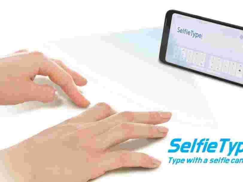 CES 2020 : Samsung a créé un clavier invisible qui utilise l'intelligence artificielle pour suivre les mouvements de vos doigts