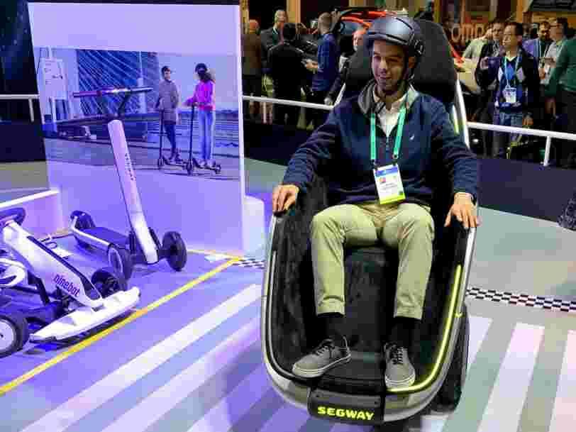 CES 2020 : j'ai testé le S-Pod, le siège roulant de Segway, et ce n'était pas facile à conduire
