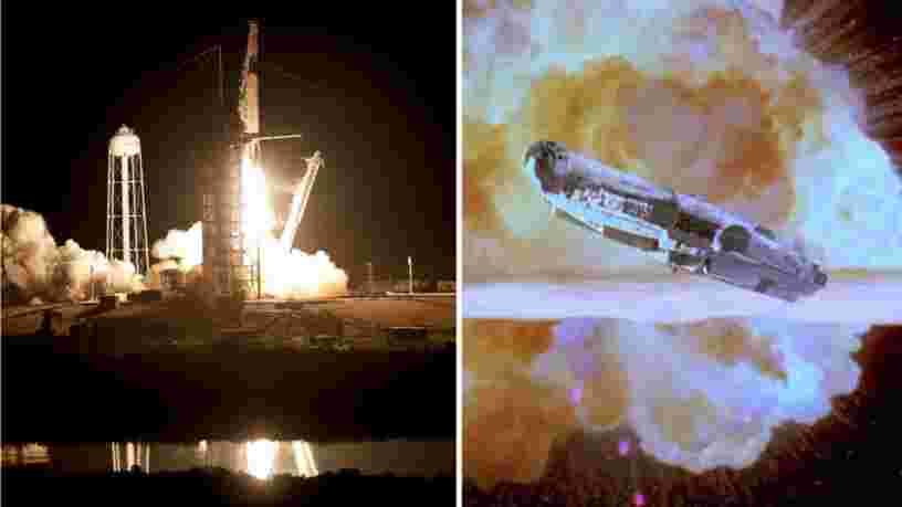 Elon Musk assure que le vaisseau spatial Crew Dragon peut échapper à une boule de feu comme le Faucon Millenium dans 'Star Wars'