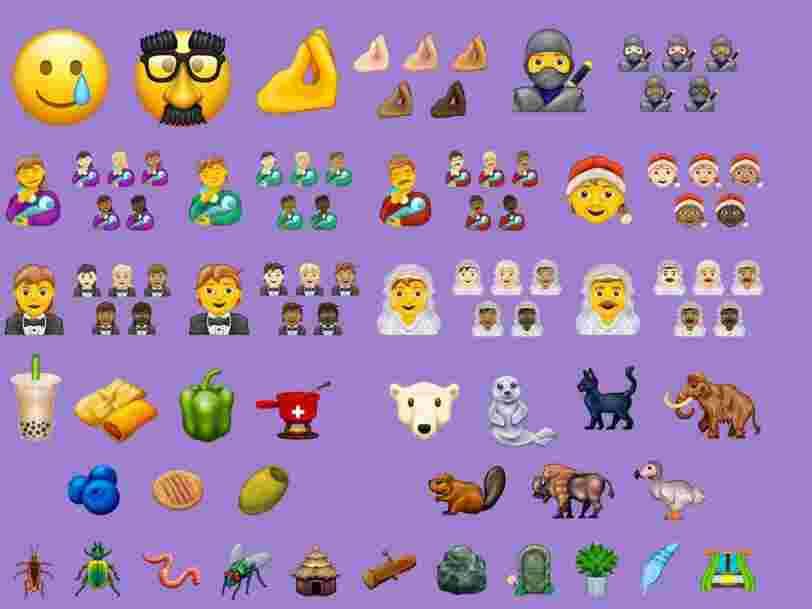 Voici les 64 emojis qui arriveront sur votre smartphone en 2020