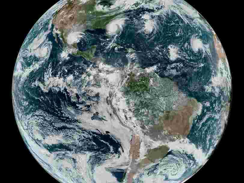 La NASA a pris une photo de l'ouragan Dorian et trois autres cyclones alignés