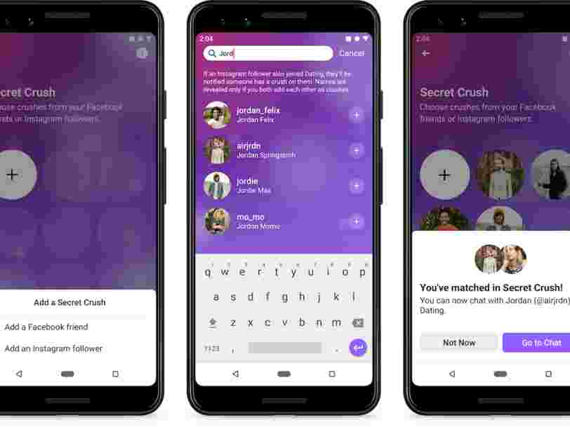 Le service de dating de Facebook sera lancé d'ici début 2020 en Europe... et les 6 autres choses à savoir dans la tech