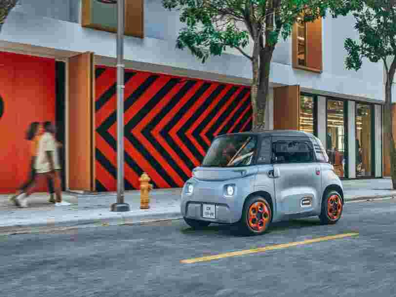 Citroën présente Ami, un véhicule électrique qui pourra être acheté chez Fnac Darty ou loué à la minute sur Free2Move