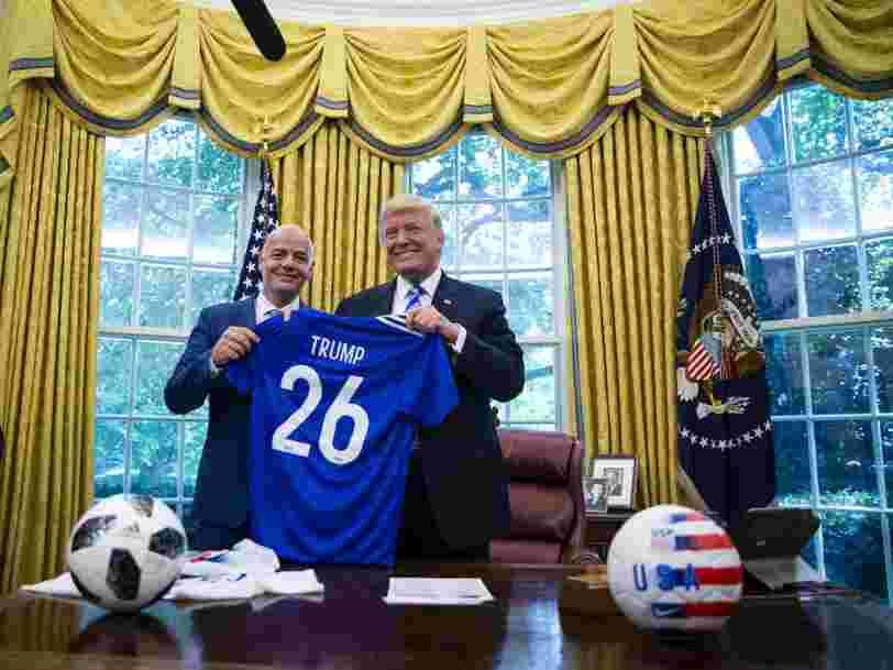 Le président de la FIFA Gianni Infantino compare Donald Trump à un sportif de très haut niveau