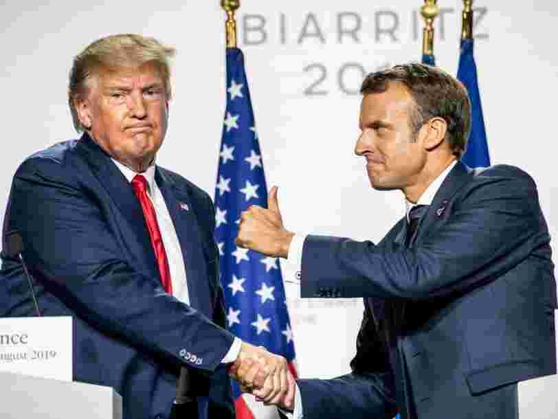 Taxe GAFA : Macron et Trump se donnent du temps pour éviter l'escalade entre la France et les Etats-Unis