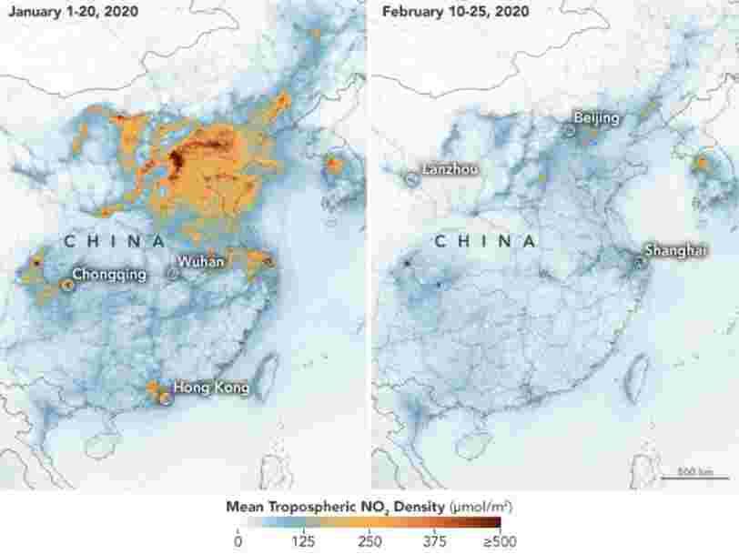 Coronavirus : la pollution en Chine a chuté significativement avec les mises en quarantaine