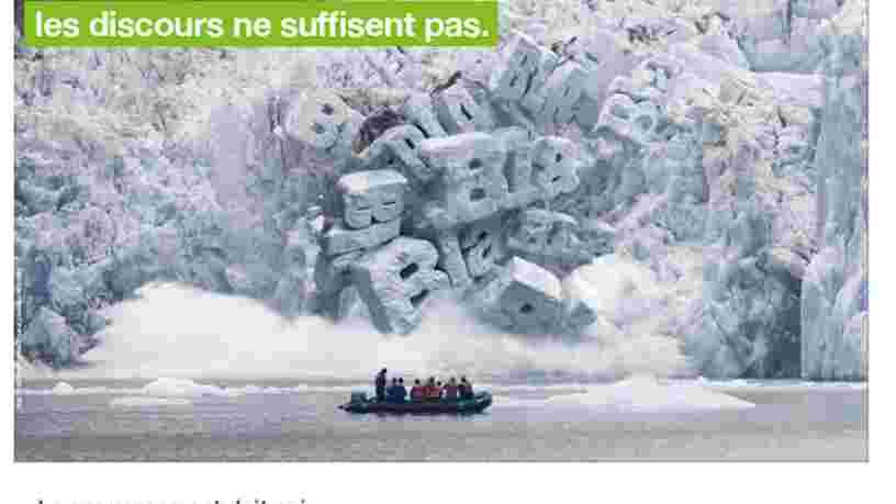 Cette campagne de Greenpeace sur l'urgence climatique a été refusée dans les transports d'Ile-de-France