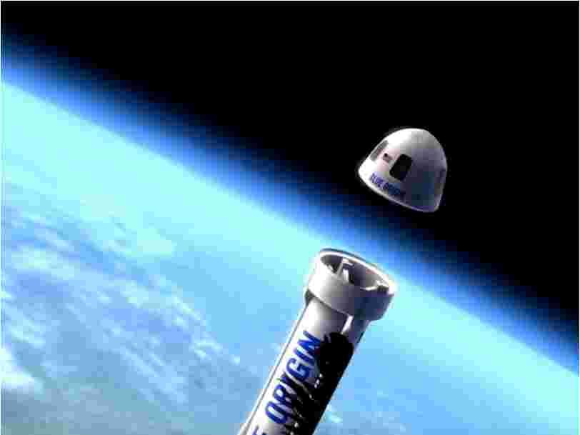 Jeff Bezos a dévoilé une maquette de la capsule que sa société spatiale va utiliser pour faire voyager des touristes dans l'espace