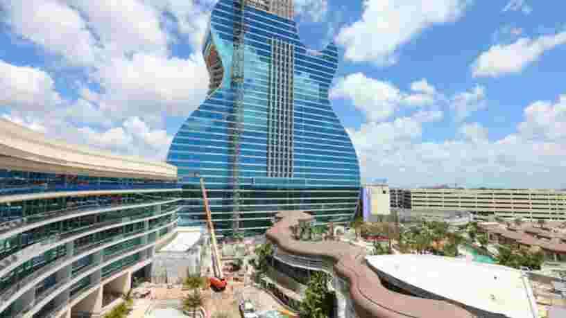 Découvrez en images le gigantesque hôtel Hard Rock en forme de guitare qui va ouvrir en Floride
