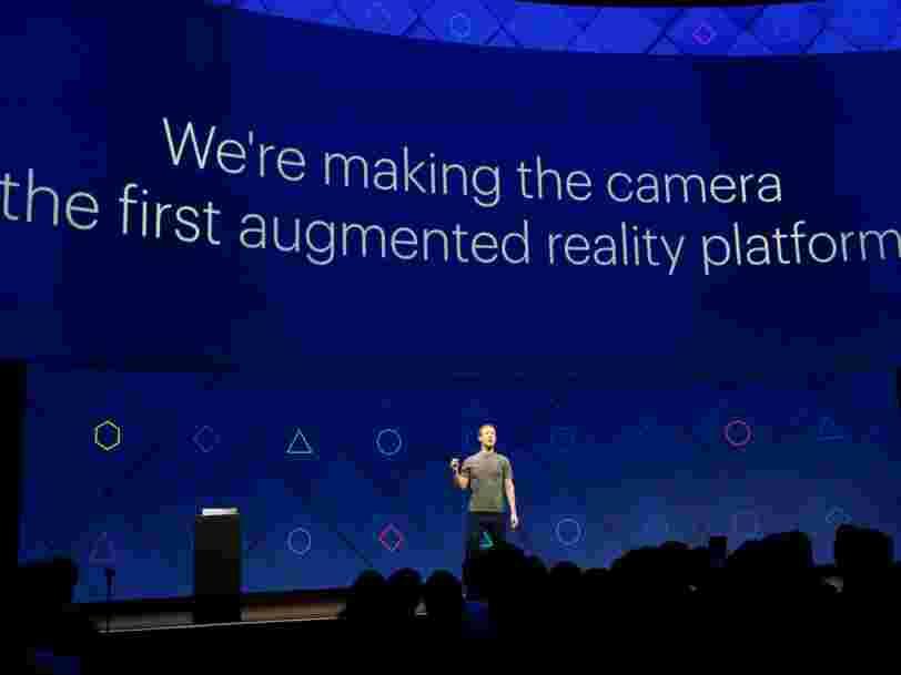 Mark Zuckerberg défie encore Snapchat et annonce une plateforme d'applis de réalité augmentée pour Facebook