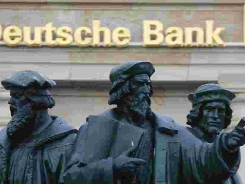 Le directeur financier de Deutsche Bank dément des discussions internes au sujet d'une fusion avec le géant suisse UBS — et dit qu'il s'agit 'une fiction des médias'