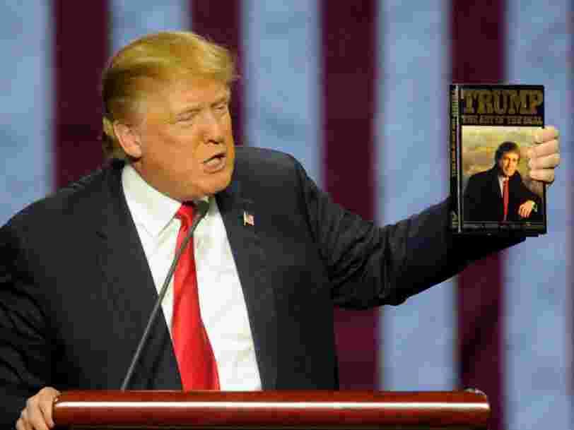 Une citation tirée d'un livre écrit par Donald Trump explique parfaitement sa présidence