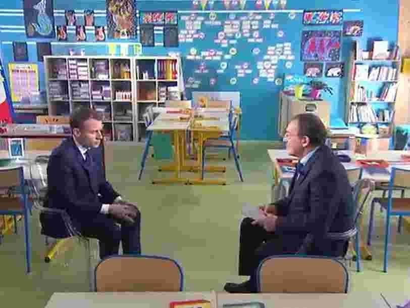 Voici ce qu'il fallait retenir de l'atypique interview du président français sur TF1 enregistrée dans une école de l'Orne
