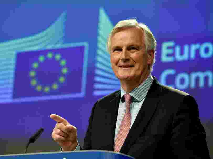 Brexit: L'Irlande a les mêmes égards pour Michel Barnier que pour 'Kennedy, Mandela et Mitterrand'