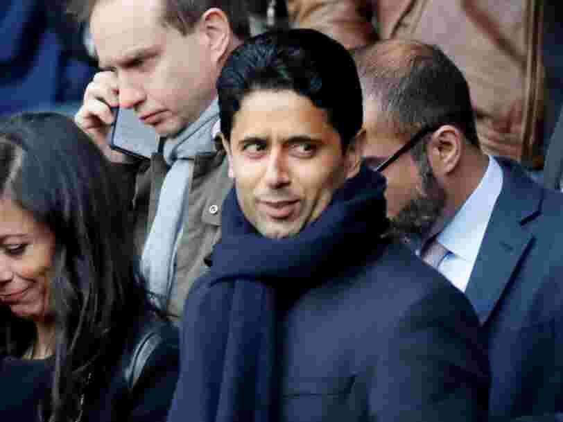 Nasser Al-Khelaïfi, le président du PSG, mis en examen pour 'corruption active' dans une affaire qui n'a rien à voir avec le foot