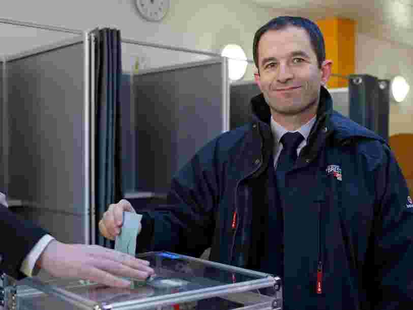 Benoît Hamon et Manuel Valls se qualifient pour le 2e tour de la primaire de la gauche