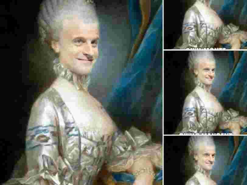 Les militants pro-FN travestissent Macron en Marie-Antoinette — voici l'histoire de ce photomontage né sur un forum étranger