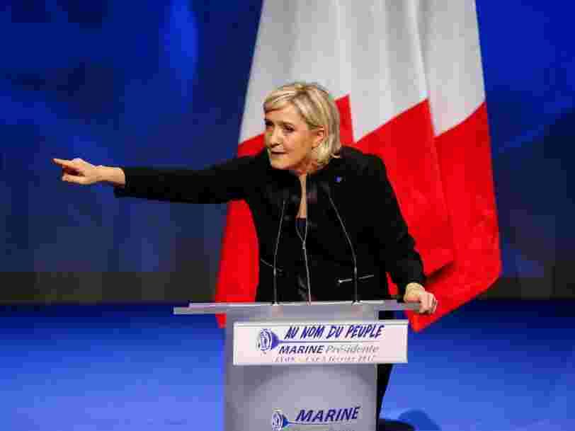 JPMorgan: l'euro chutera 'en l'espace de quelques semaines' si Marine Le Pen remportait la présidentielle