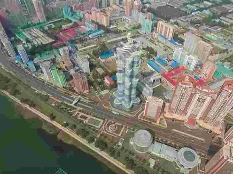 La première vidéo aérienne à 360 degrés de Pyongyang révèle l'étrange capitale nord-coréenne comme jamais auparavant